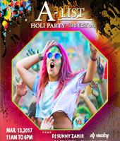 A-List Holi Party 3rd Edition