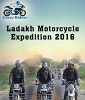 Crazy Riders Ladakh Motorcycle Expedition 2016